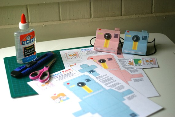 photo relating to Polaroid Camera Printable known as Visualize fantastic papercraft cameras Printables + Do-it-yourself