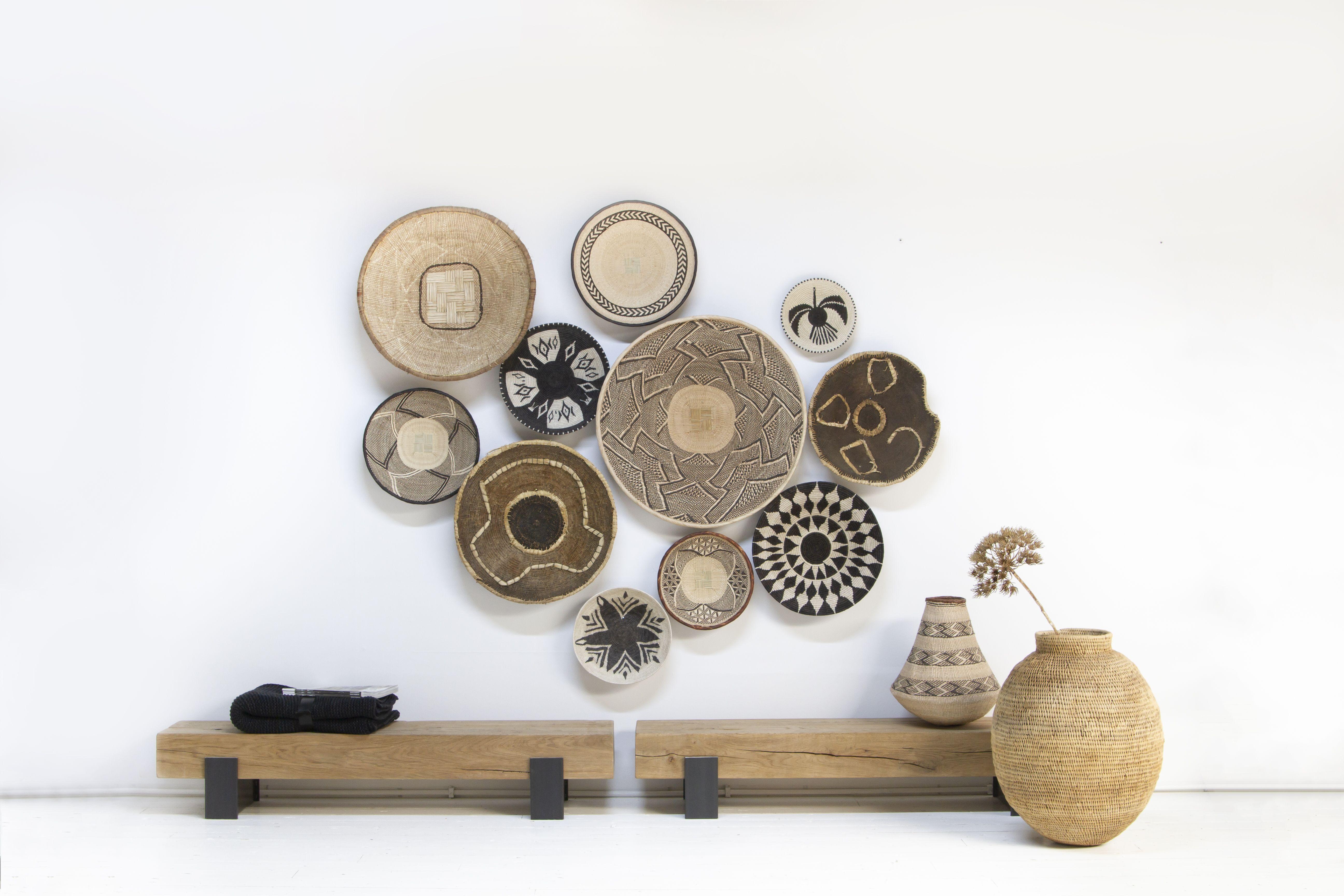 Boxworx Heeft Een Breed Assortiment Van Afrikaanse Handgeweven Manden Mix Verschillende Maten En Soorten Voor Een Mooie Dec Muur Mand Mand Decoratie Interieur