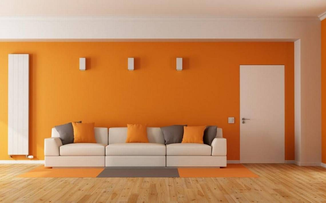Orange is very on trend in interior design interior - Interior design for living room and bedroom ...