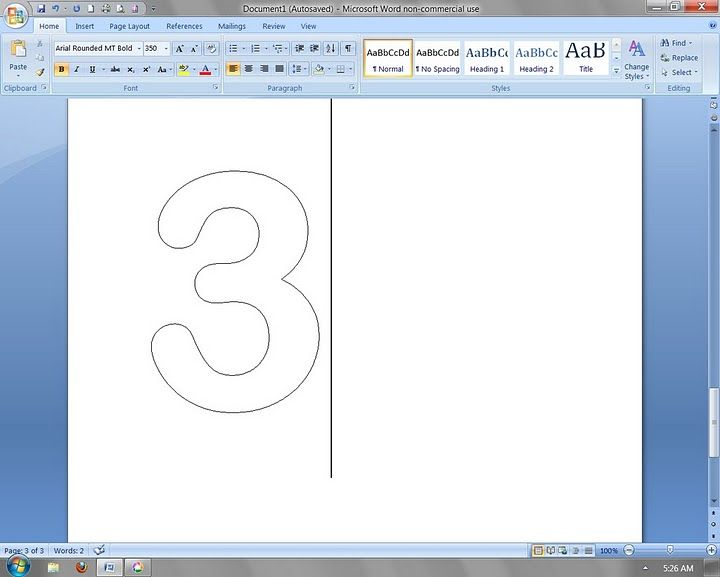 Using Microsoft Word To Create Outlined Letters And Numbers