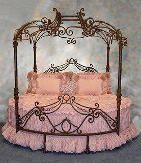 Pink round bed!