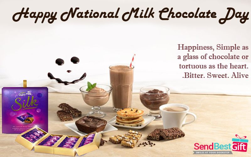 Today Is National Milk Chocolate Day So Tag Those Friends Who Like Chocolates Very Much Wish Them Chocolate Gifts Basket Send Chocolates Online Chocolate