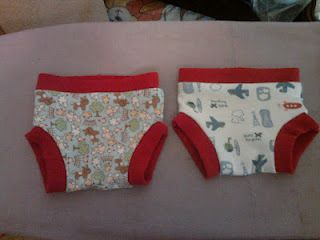 Make your little one their own training pants that use their cloth diaper inserts for extra protection.
