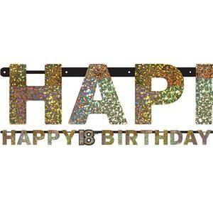 Sparkling Celebration Age  Prismatic Letter Banner  M