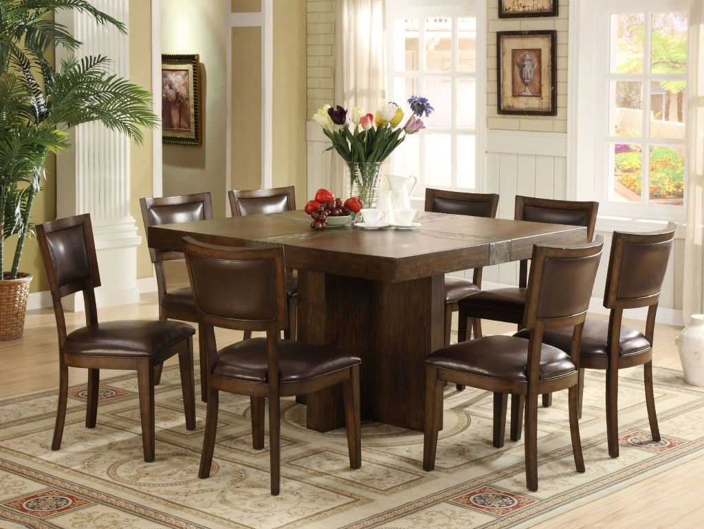 Square Dining Table For 8 Square Dining Room Table Dining Room Table Set Kitchen Table Settings