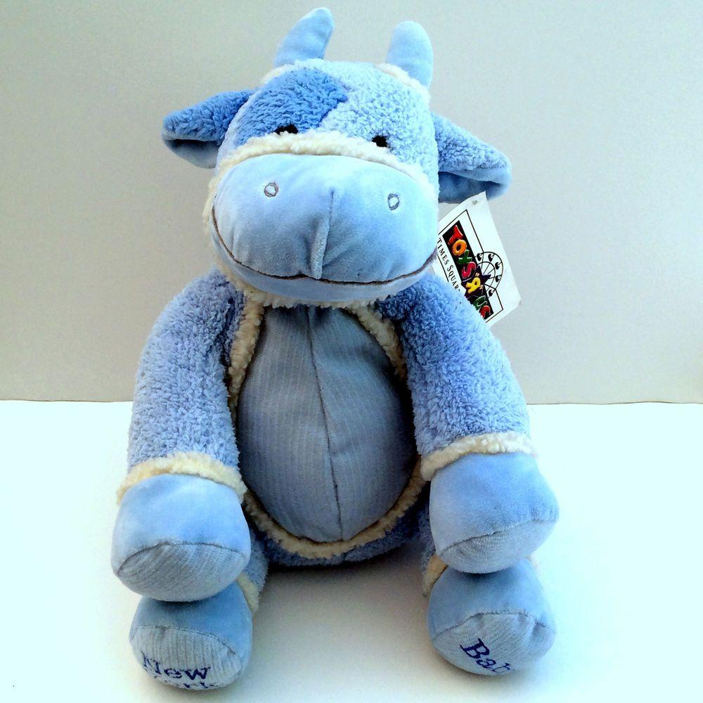 Toys R Us Times Square New York Baby Blue Cow Plush Stuffed Toy Animal Mwt Toysrus Pet Toys Elephant Plush Blue Cow