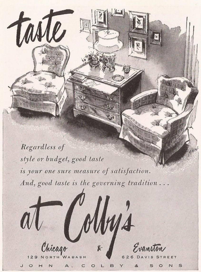 john a colby sons furniture store ad from house and garden rh pinterest com