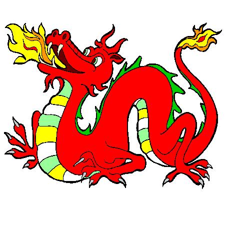 Coloriage dragon de feu a imprimer tatouage d 39 paule - Dessin dragon couleur ...
