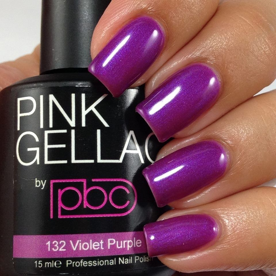 Pin By Pink Beauty Club On All 50 Pink Gellac Colors Nail Polish Gel Nails Purple Gel Nails