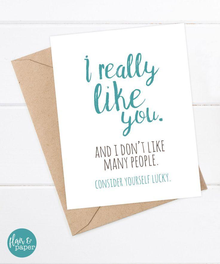 I Love You Card Boyfriend Card Awkward Card Snarky Card: Funny Boyfriend Card