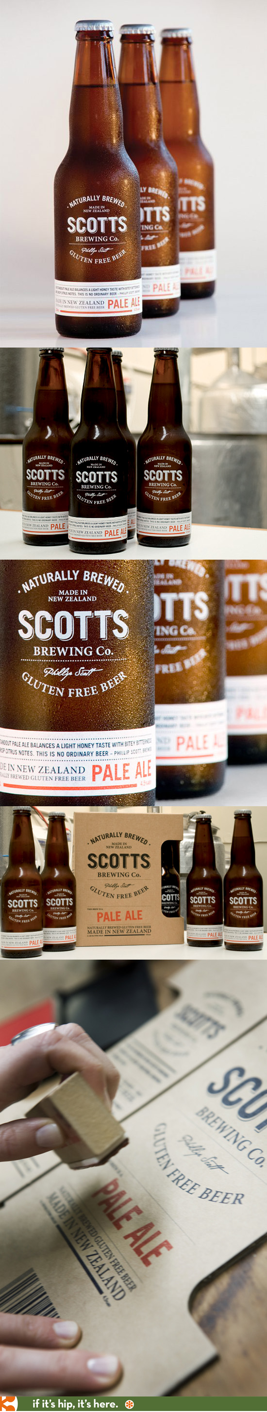 Packaging and identity for Scotts Brewing Company's gluten