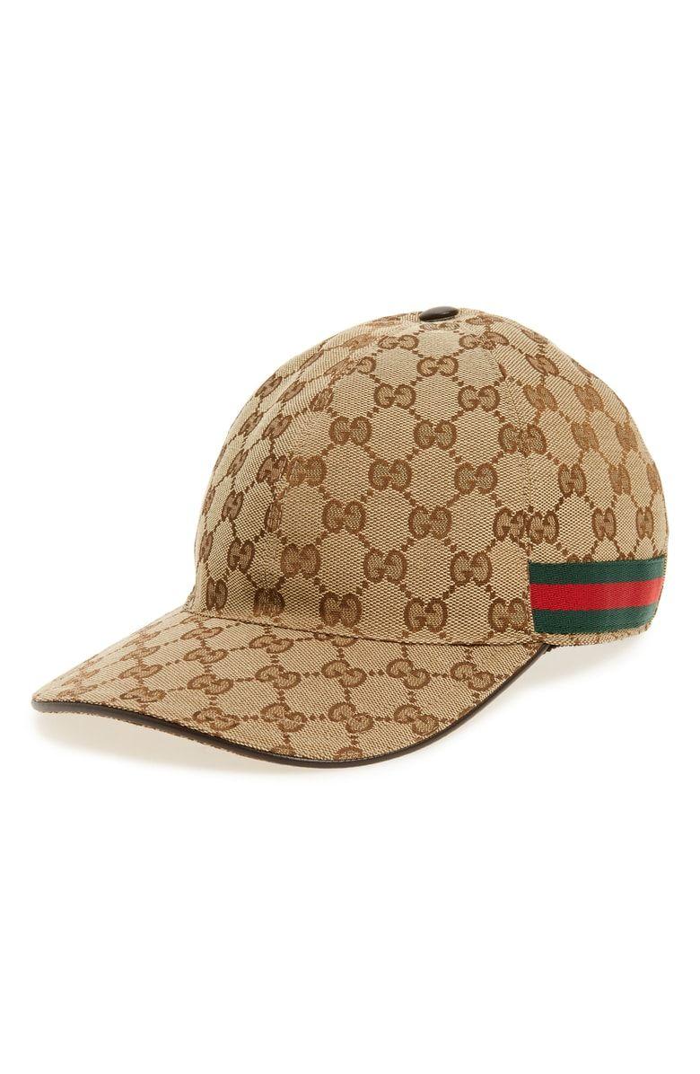 7bacef03beff5a GUCCI Logo Print Baseball Cap. #gucci   Gucci in 2019   Gucci hat ...