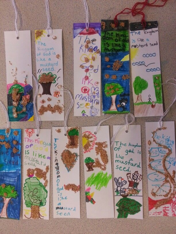 Parable of the Mustard Seed bookmarks | Church crafts kids, Sunday ...