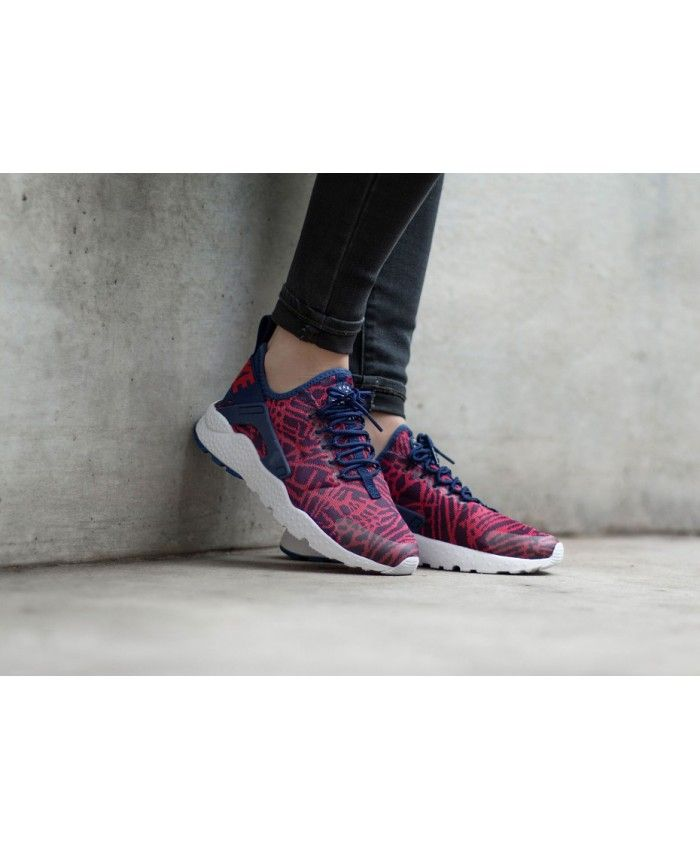 Nike Air Huarache Ultra Knit Jacquard Loyal Blue University Red Trainer