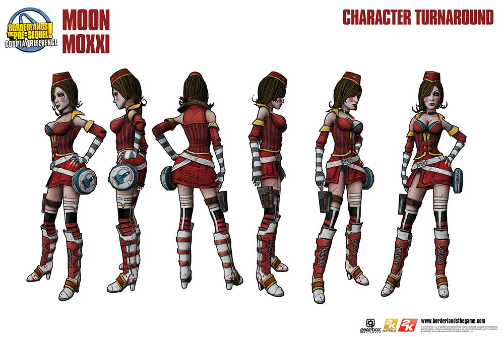 Moon Moxxi Cosplay Reference Guide Gearbox Software