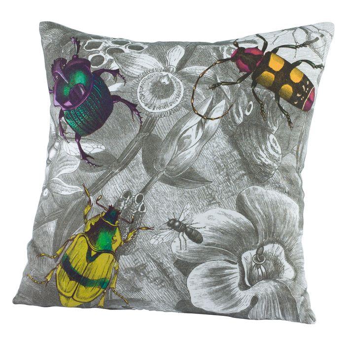 Botanica bugs cushion Insect art, Interior textiles