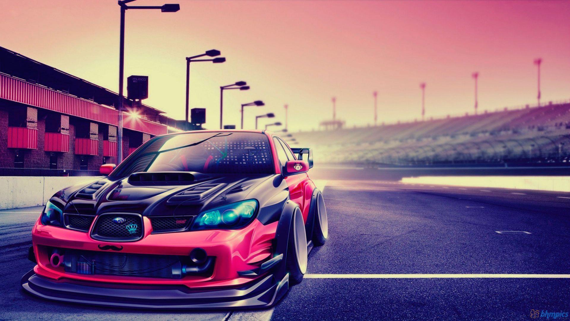 Subaru Impreza Tuning Car Hd Wallpaper Subaru Impreza Subaru