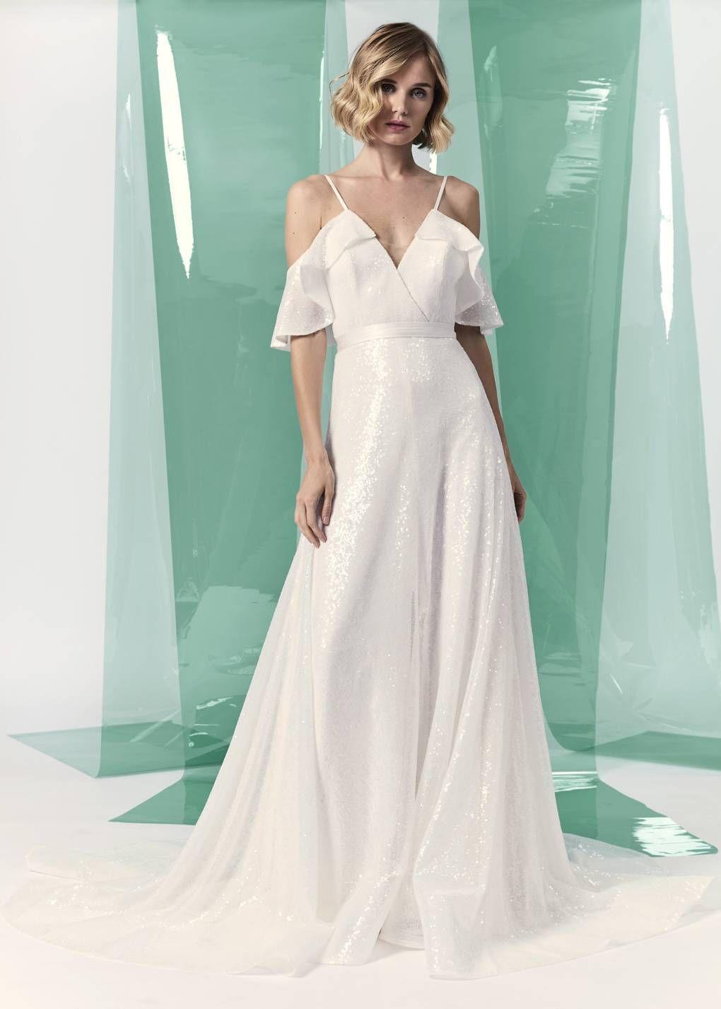 Wedding dresses beach   Beautiful Off The Shoulder Wedding Dresses  Beach Wedding