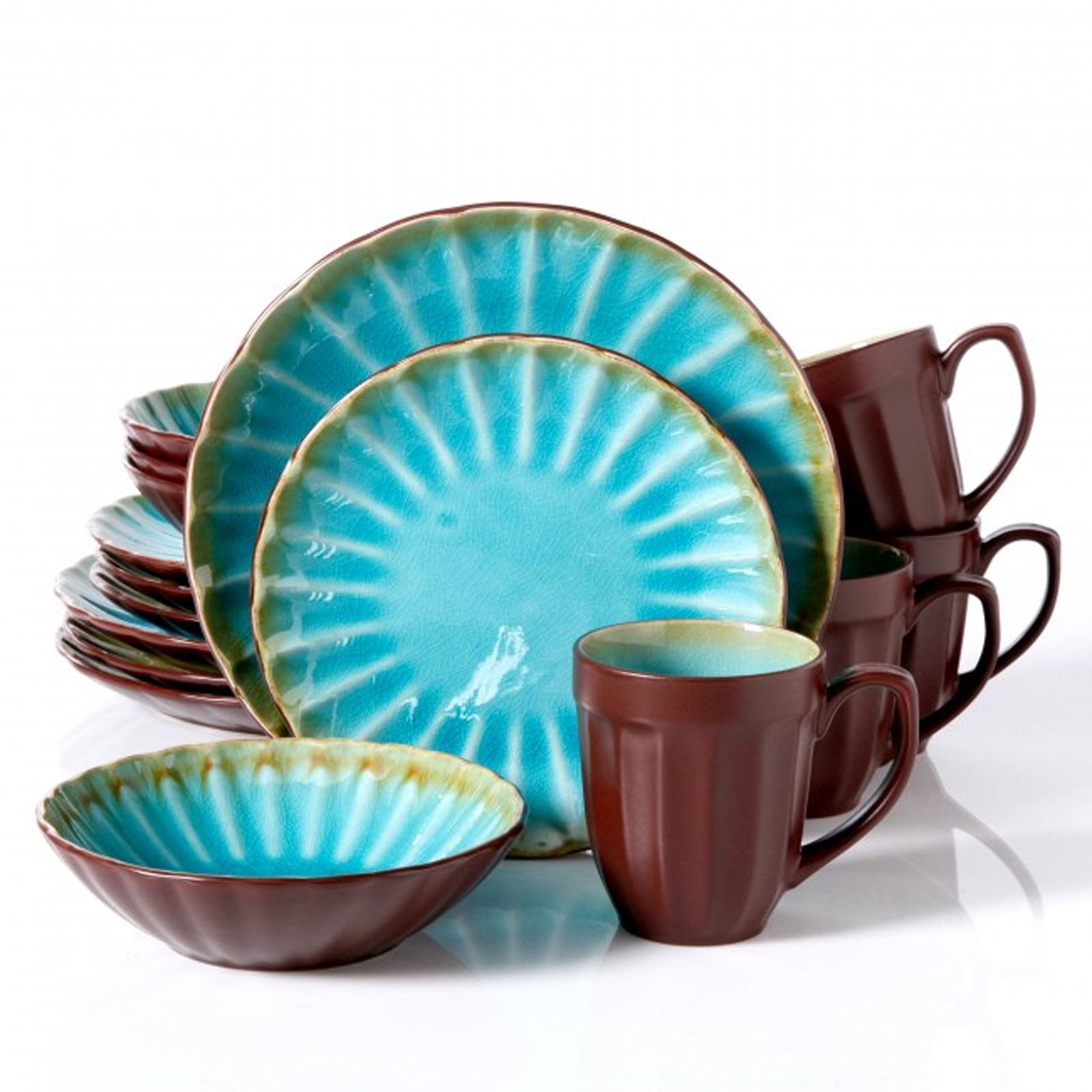 Turquoise Dinnerware Set | Sears.com | Recipes :Rebuilding the joy ...