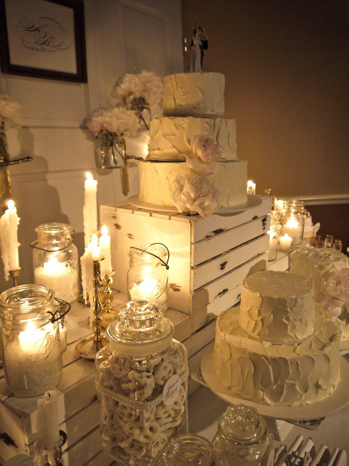 Wedding cakecandy table unique candles pinterest candy