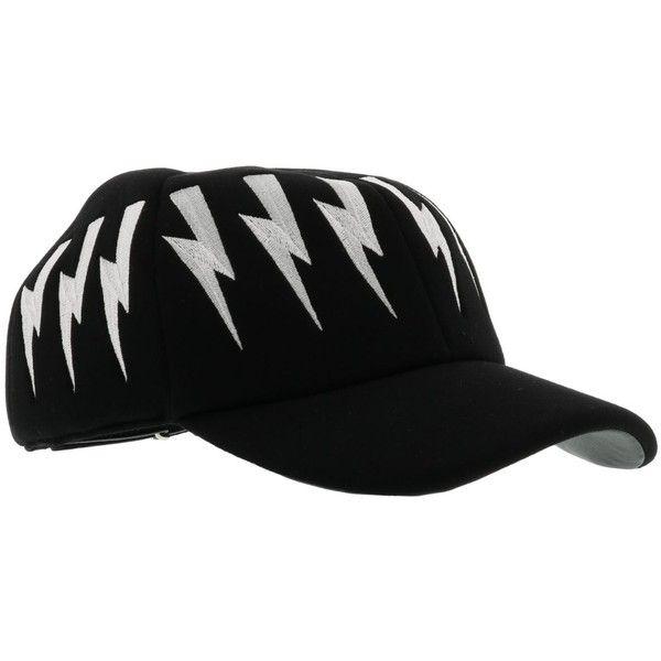 Neil Barrett Baseball Cap ($210) ❤ liked on Polyvore featuring accessories, hats, baseball cap hats, baseball hats, ball cap, ball cap hats and baseball caps