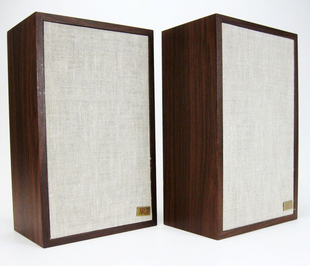 ACOUSTIC RESEARCH AR 7 BOOKSHELF SPEAKERS VINTAGE NEW SURROUNDS NICE AcousticResearch