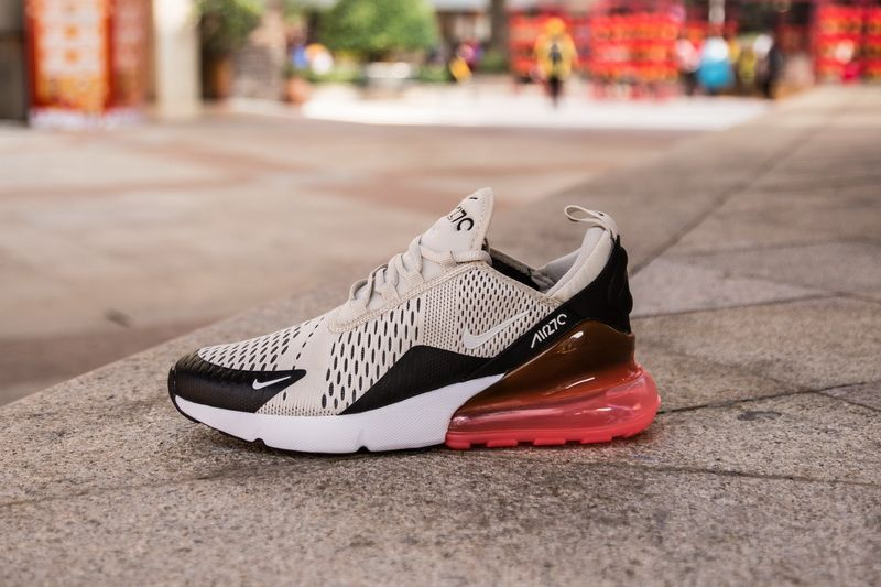 0b537c518354e Nike Air Max 270 AH8050-003 Cream Red Shoes for Sale-02 Dressed in a Black