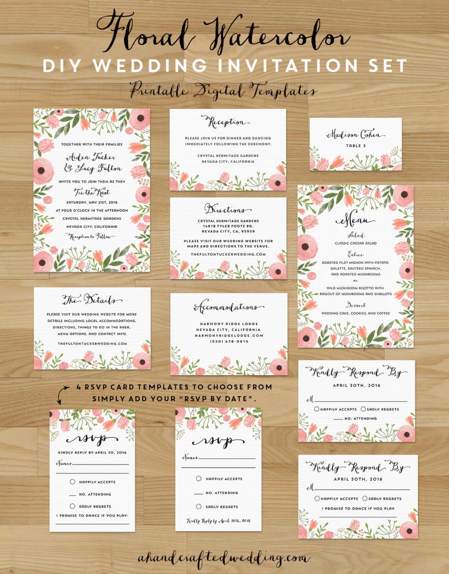 DIY Save The Date Postcard Free Printable | Wedding invitation sets ...