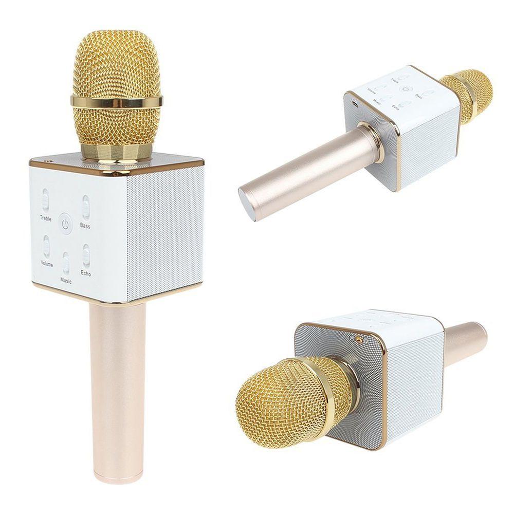 Q7 Wireless Bluetooth Handheld Ktv Karaoke Microphone Mic Speaker Hifi Sing A Song For Phone Ann Ebay