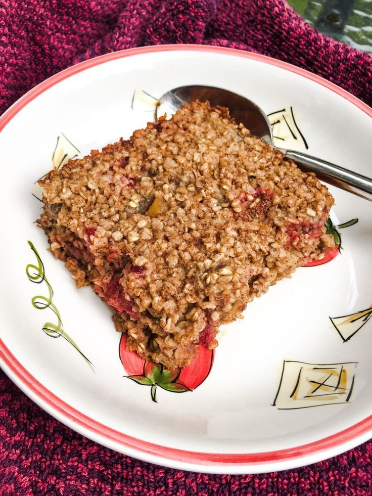 Baked Strawberry Oatmeal