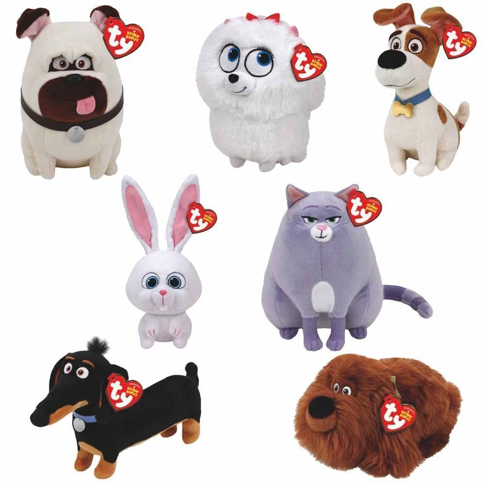 Set Of 7 Ty Beanie Babies Plush Secret Life Of Pets Movie Soft Toys 6 Inches Ebay Pets Movie Baby Soft Toys Baby Plush