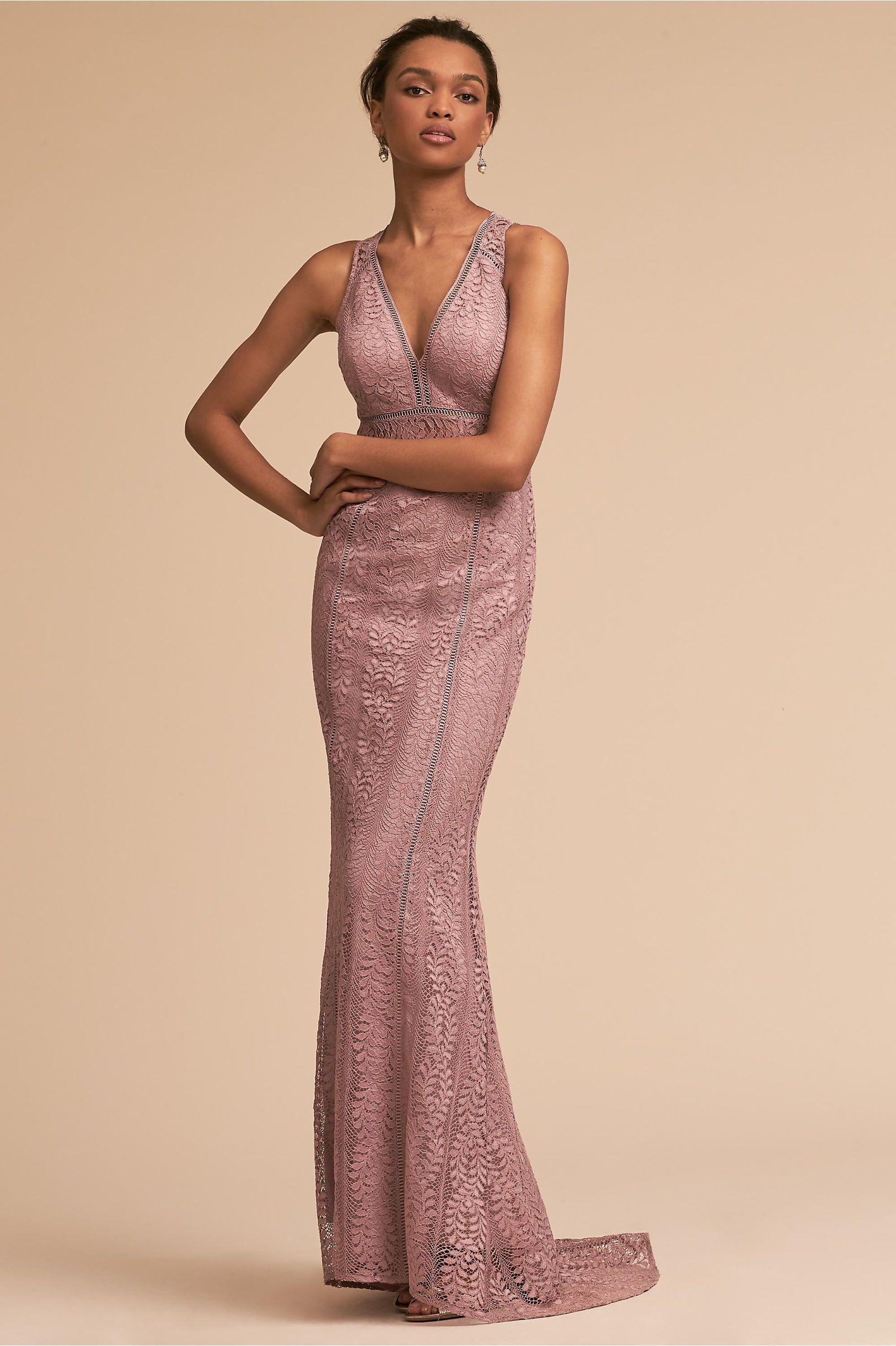 100 dollar wedding dress  BHLDNus Connor Dress in Mauve  Mauve Bridal parties and Wedding dress