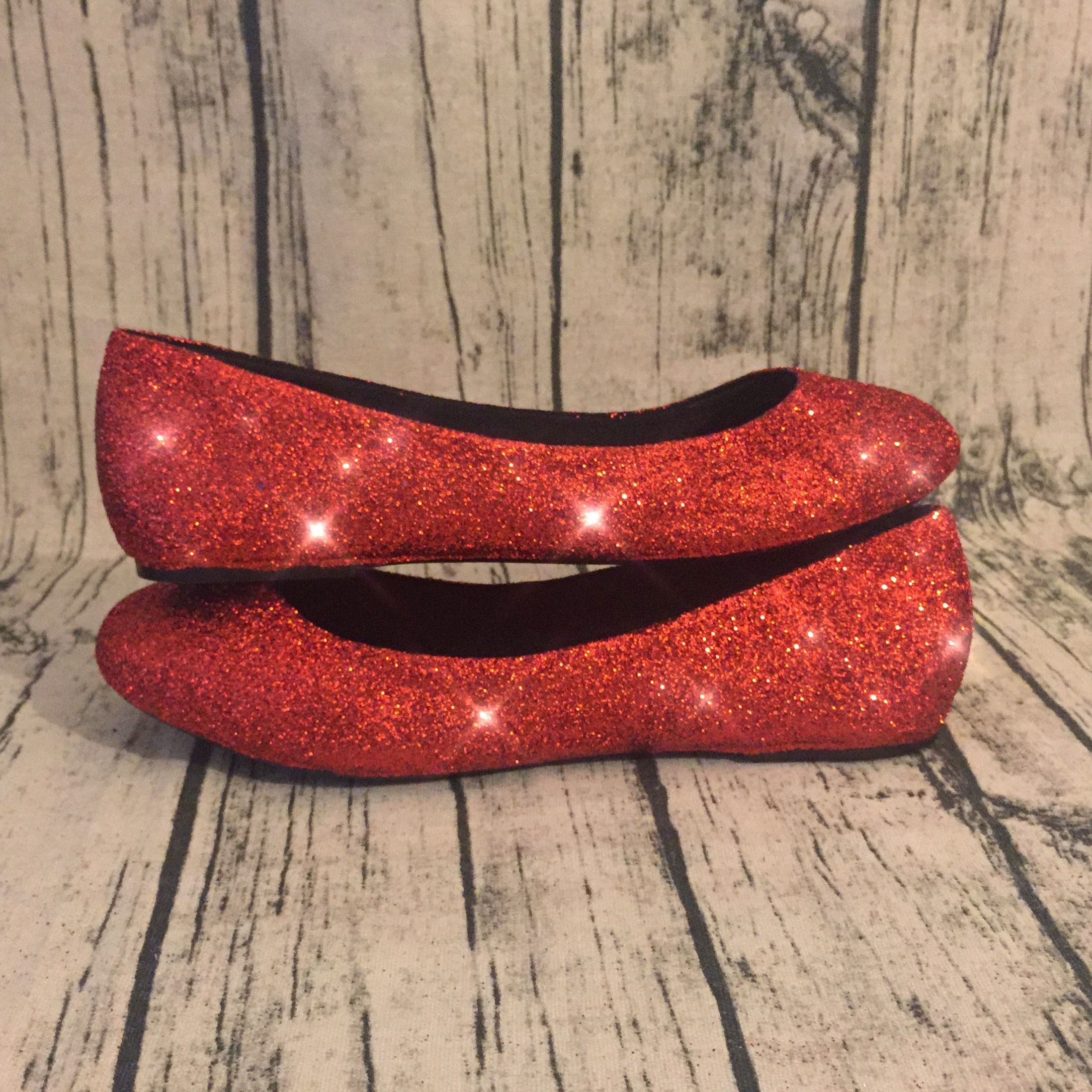 Sparkly Red Glitter Ballet Flats! All