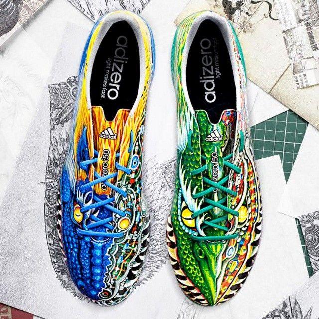 Soccercleats101 The Latest Yamamoto Custom Adizero F50 Design Who Is A Fan Of Multicolored Dragons アディダス サッカー アディダスブーツ サッカーシューズ
