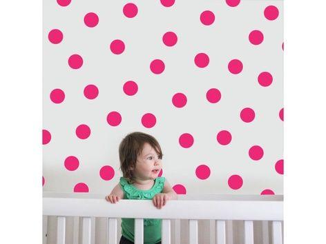 Hot Pink Dots Wall Decal - Shop - Furniture & Decor, Nursery Decor, Wall Decor | Littleville