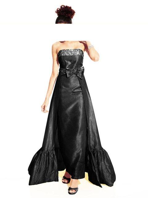 Designer-Abendkleid mit Schleppe Schwarz | Lange schwarze kleider ...
