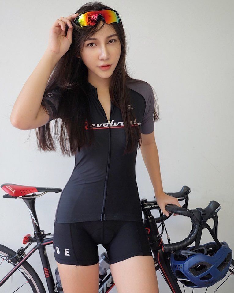 Curves And Lines Women And Bikes Photo Bicycle Girl Cycling