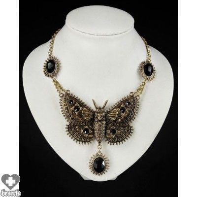 NECKLACE | Dark Moth [Brass] Choker