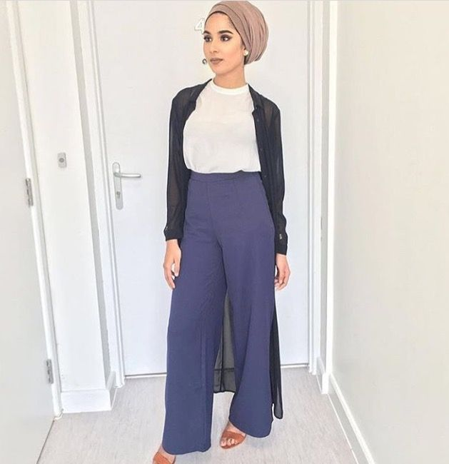 Turban + palazzo pants. Pantalons PalazzoHijab