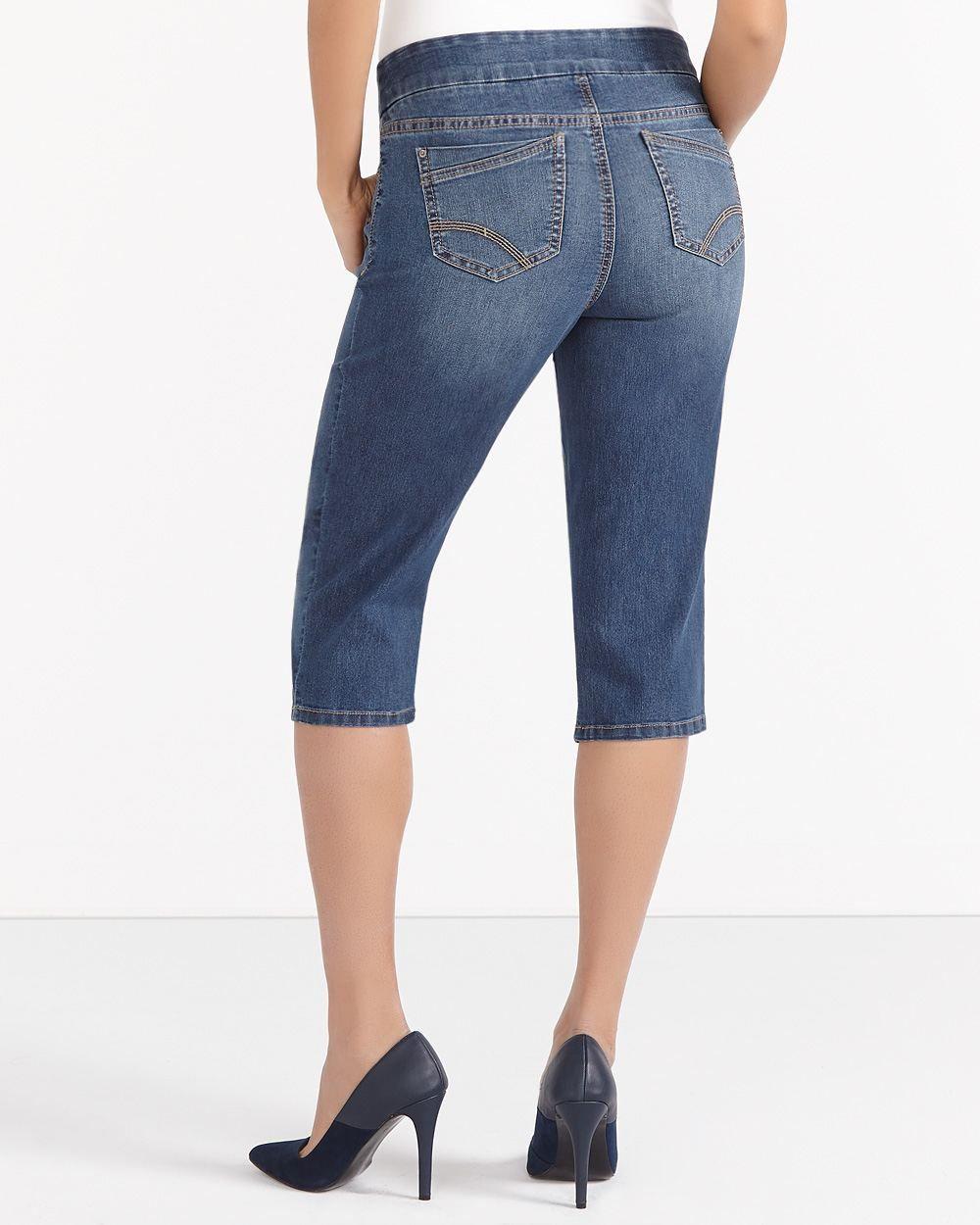 8323087abd8c8d Petite Original Comfort Jean Capris   Reitmans   Capri jeans, Capri ...