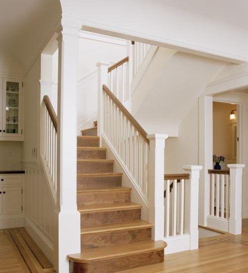 Rustic Staircase Design Ideas Newel Post Design Staircase: Split Level Renovation Ideas