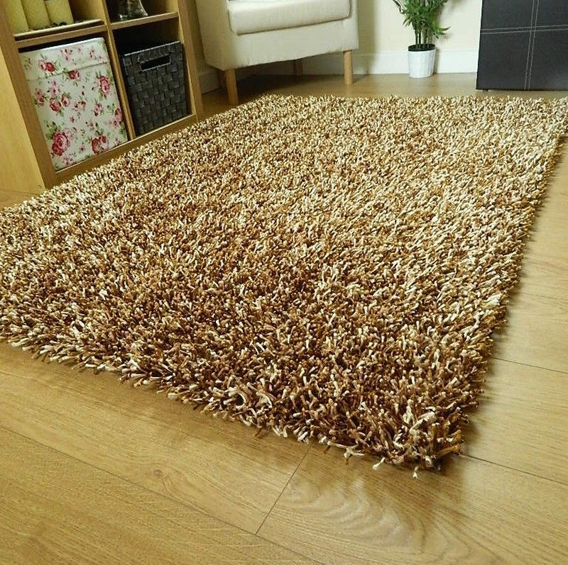 Large Small Sparkle Rugs Spaghetti Runners Thick Shiny Shaggy Lounge Shag Rug Ebay
