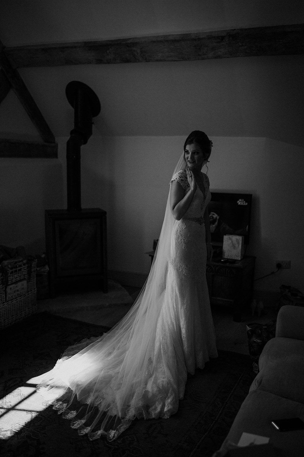 Pimhill barn wedding in shrophire super personal u magical with cat