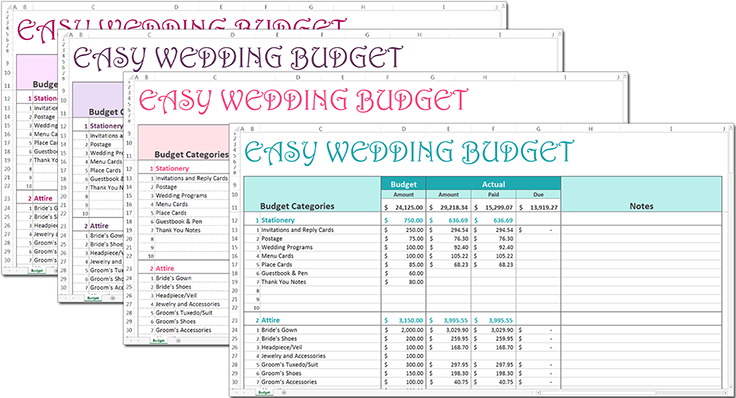 easy wedding budget budgets and financial planning pinterest