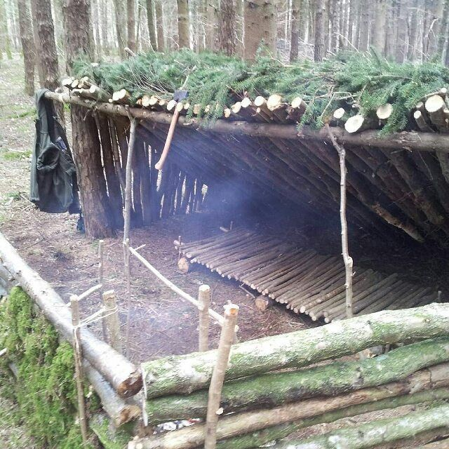 A Simple Leanto Structure With A Dakota Fire Pit A Raised Bed A