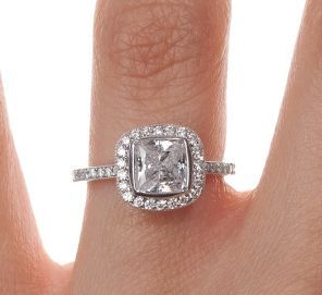 18k White Gold Fancy Bezel Halo Diamond Ring With Side Stones 1 4 Ct Tw Engagement Wedding Ring Sets Double Halo Diamond Engagement Ring Antique Style Rings
