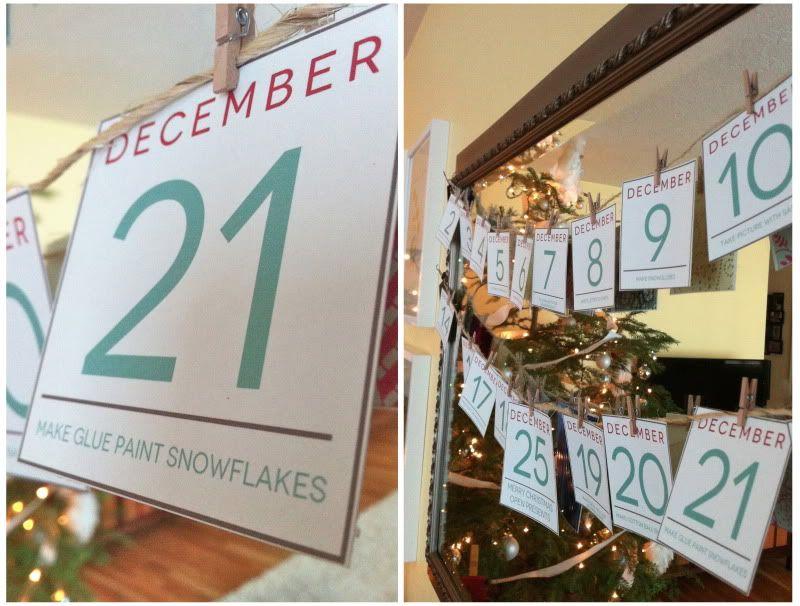Christmas advent Advent Calendar Ideas Pinterest Decorative