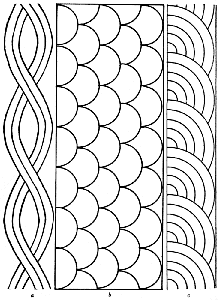Free rope shell fan quilting pattern quilting for Quilting templates for borders