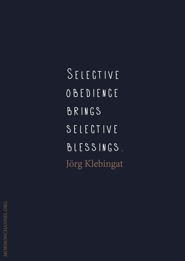 obedience precedes blessings