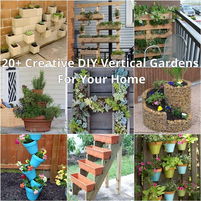 15 Small Backyard Designs Efficiently Using Small Spaces: 20+ Creative DIY Vertical Gardens For Your Home